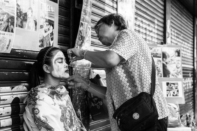 Face-styling in Bangkok