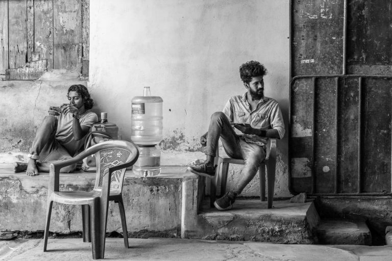 Aufsicht in einer Ausstellung, Indien