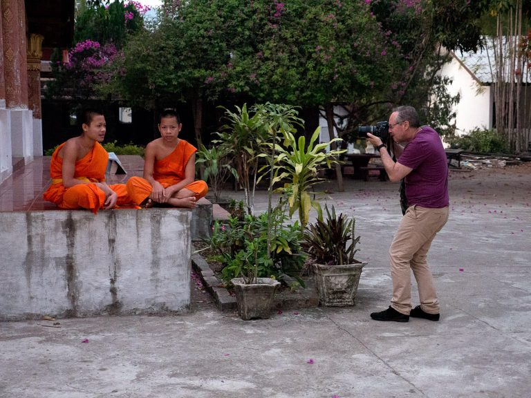 Tourist in Laos