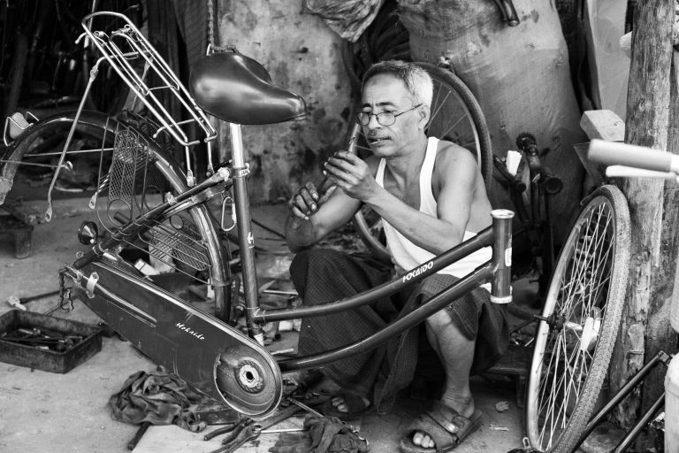 Arbeiter in Myanmar